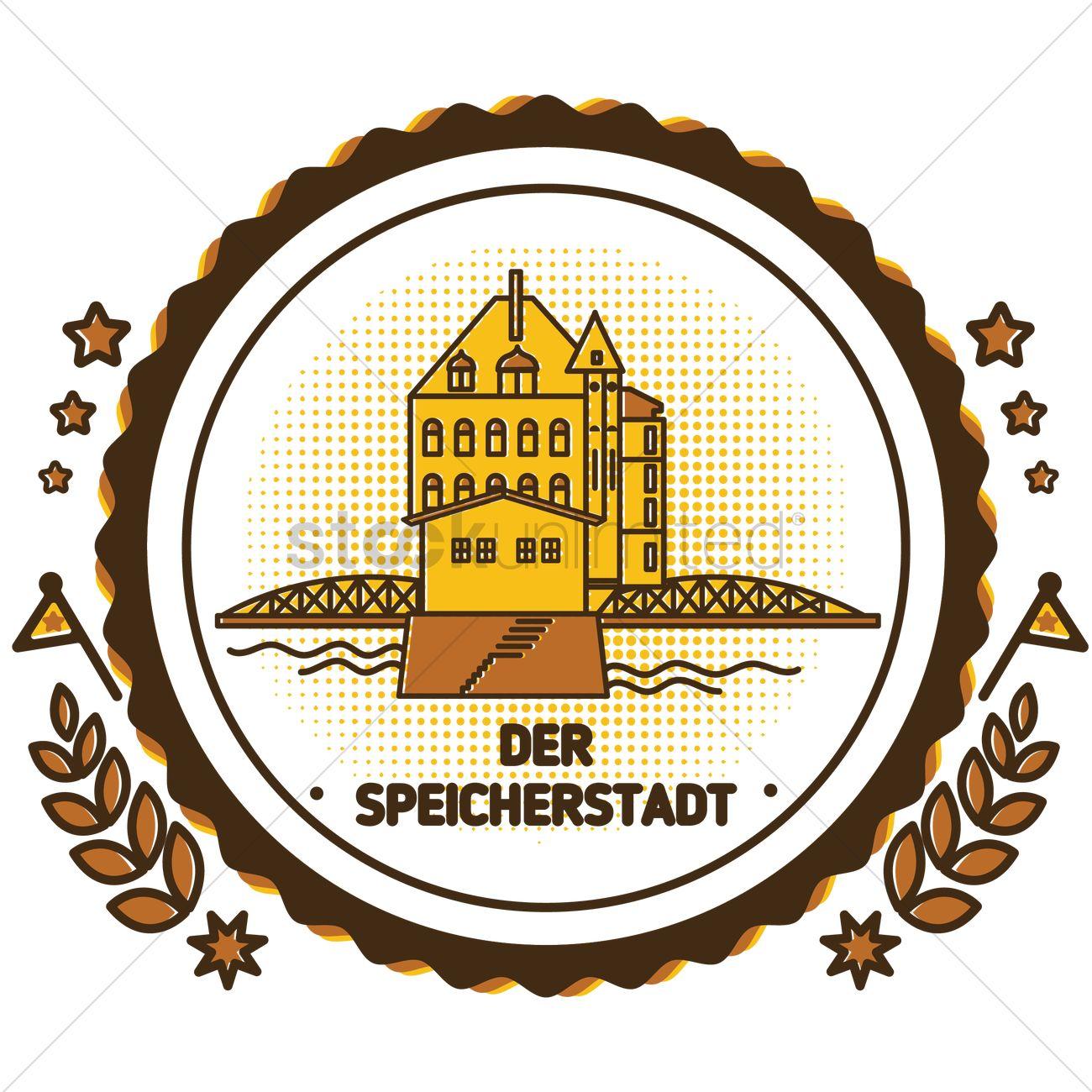 Der speicherstadt Vector Image.