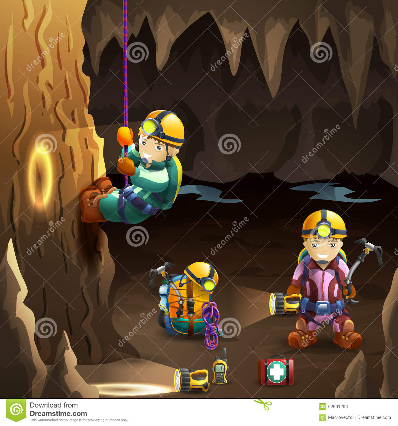 Caves Stock Illustrations.