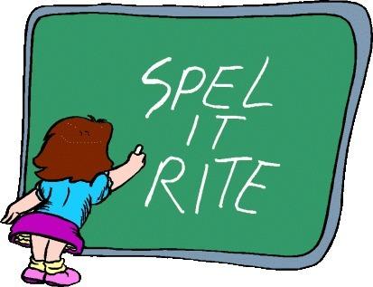 Spelling Clipart.