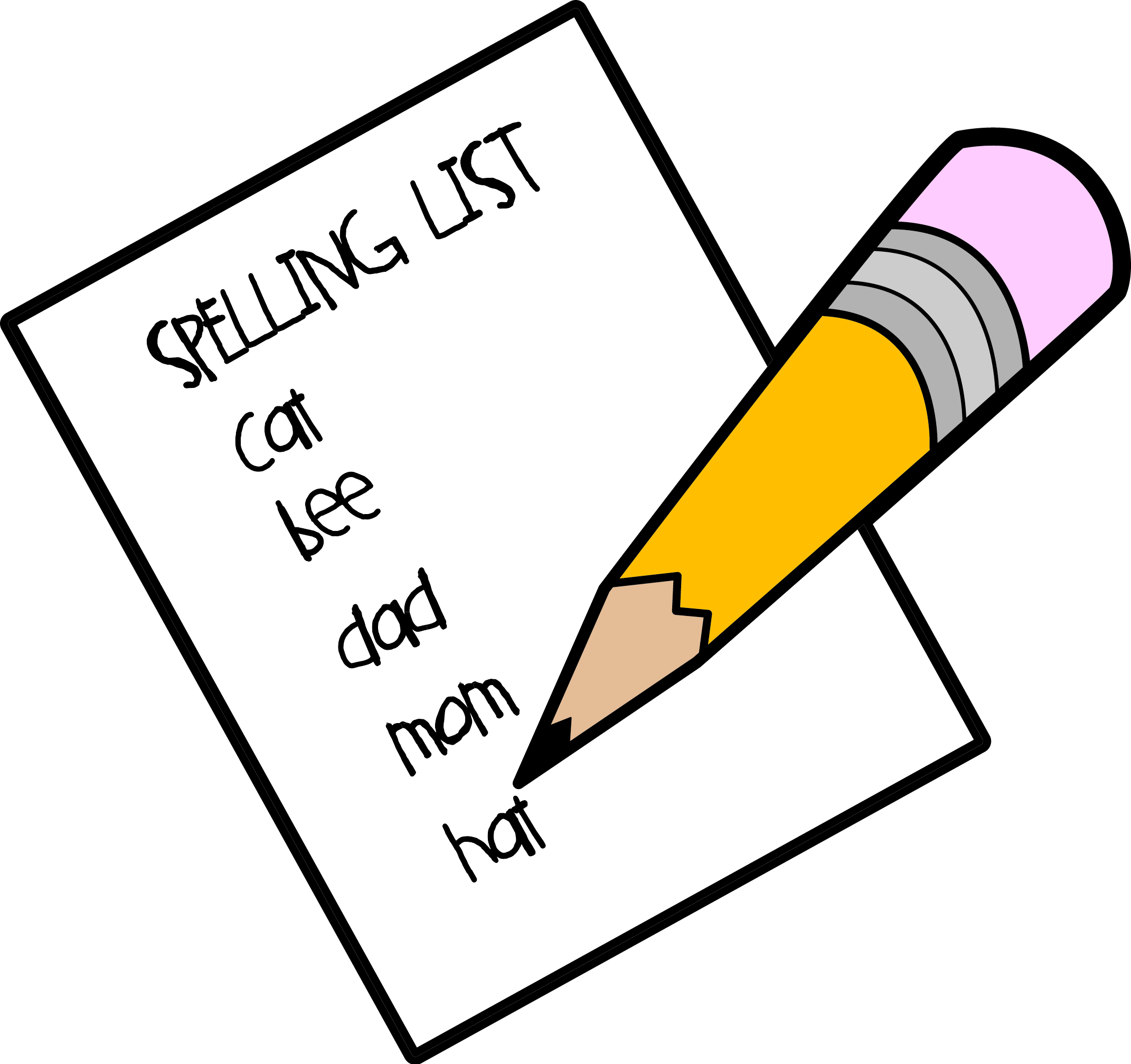 Spelling clipart images.