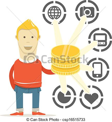 Spend money Illustrations and Clipart. 8,399 Spend money royalty.