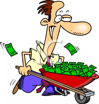 Spending Money Clipart.