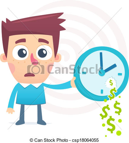 Clipart Vector of time spent money csp18064055.