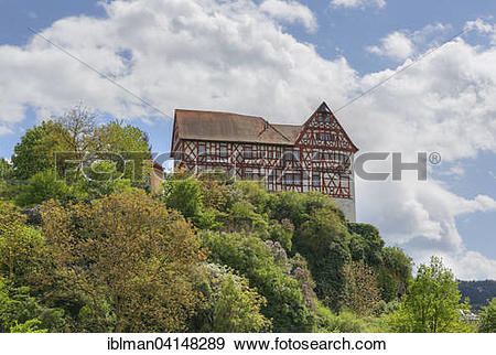 Stock Photograph of Homburg Castle, Triefenstein, Spessart.