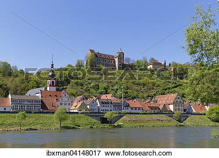 Picture of Rothenfels Castle, Rothenfels, Main, Spessart.