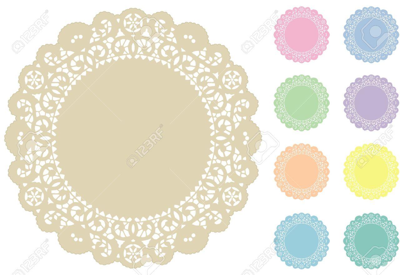 Spetsduk Bordstabletter, 9 Pastellnyanser Royalty.