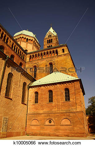 Stock Images of Speyer Cathedral side walls, Germany k10005066.