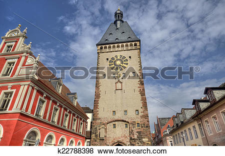 Pictures of Speyer Clocktower, Germany k22788398.