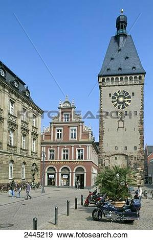 Stock Photograph of Tourists in front of church, Altpoertel.
