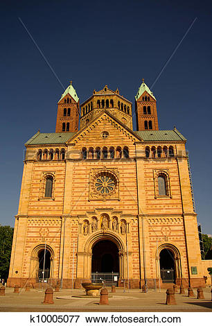 Picture of Speyer Cathedral main facade, Germany k10005077.
