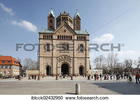 """Stock Photography of """"Speyer Cathedral, west facade with the west."""