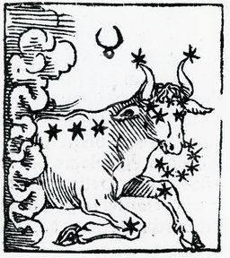 Zodiac sign of Taurus (Zodiac sign of Taurus . From 'Sphaera mundi.