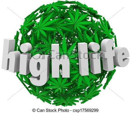 Stock Illustration of High Life Marijuana Sphere Ball Stoned Drug.