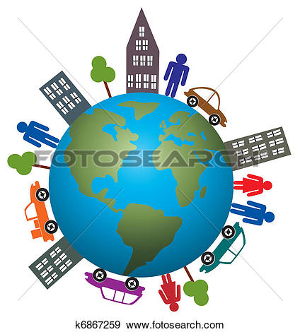 Clip Art of concept of life on our earth k6867259.