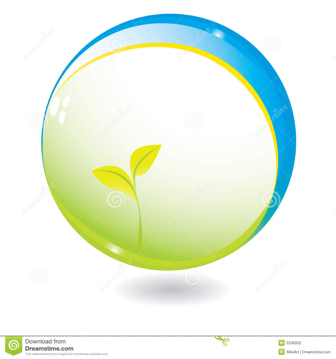 New Life In Sphere Stock Photography.