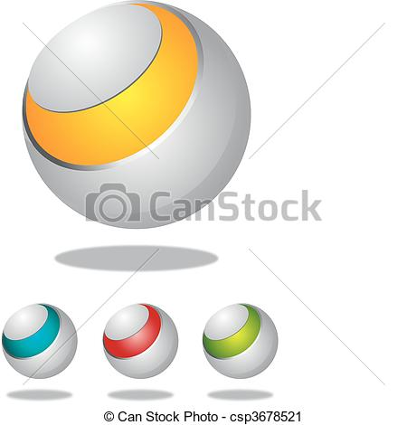Vector Clip Art of Spherical design element.