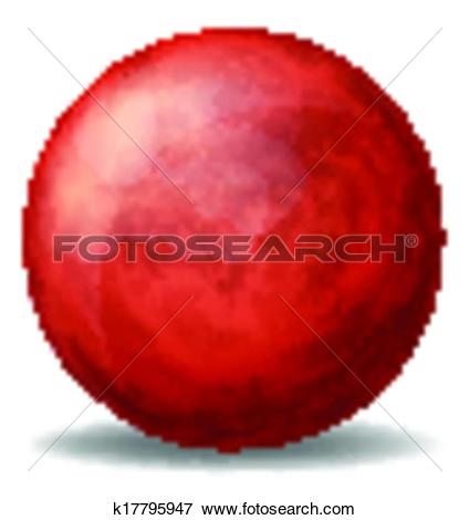 Clip Art of A red spherical ball k17795947.