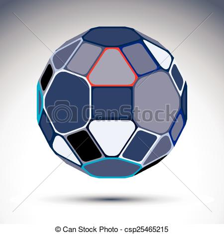 Vector Clip Art of Complicated gray spherical object.