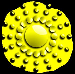 Sun With Spherical Sunrays Clip Art at Clker.com.