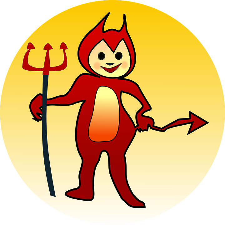 Free vector graphic: Devil, Naughty, Demon, Trident.