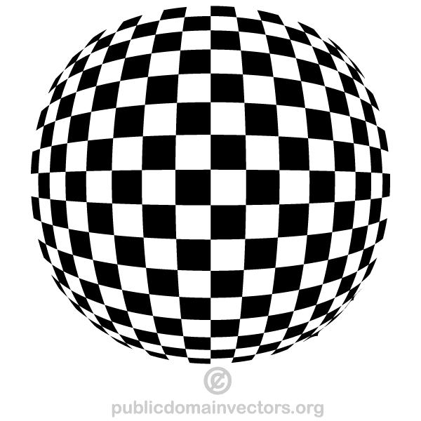 Checkered Spherical Shape Vector.