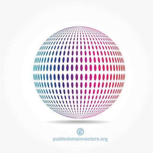 Spherical shape vector clip art.
