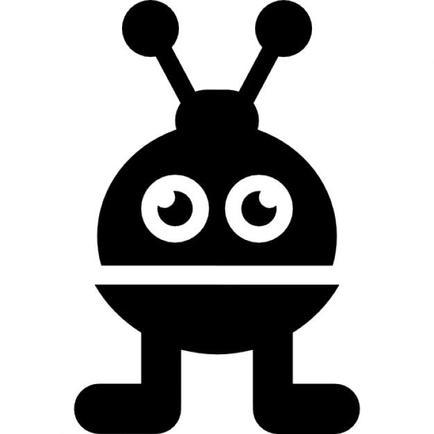 Robot of short spherical shape Icons.