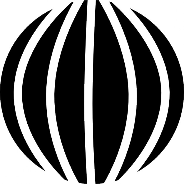 Spherical shape with vertical lines Icons.