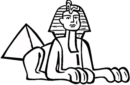 Sphinx clipart.