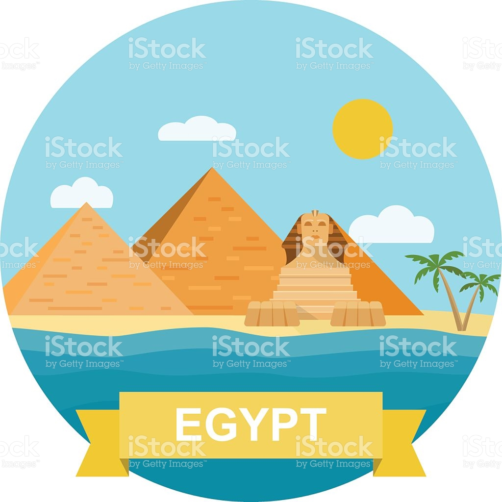 Pyramid And Sphinx Clipart.