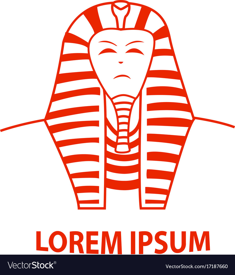 Sphinx and egypt pharaoh logo.