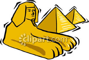Sphinx and the Pyramids.