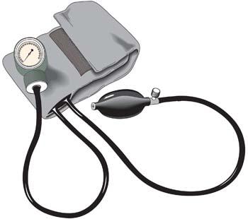 Sphygmomanometer clipart.