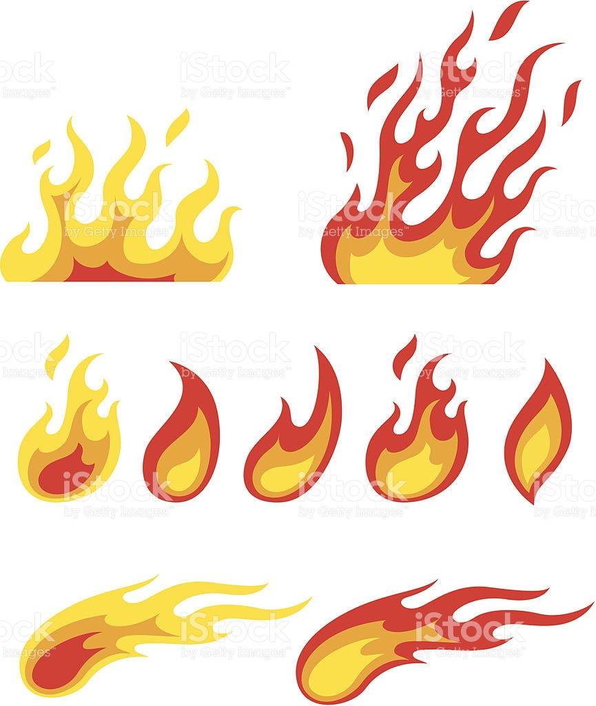 Flame Symbols stock vector art 165061687.