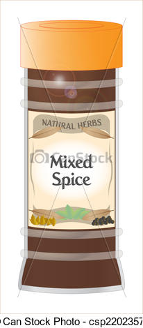 Vectors Illustration of Mixed Spice.