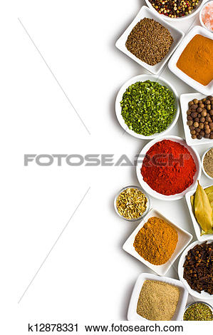 Stock Photography of Various spices and herbs. k12878331.