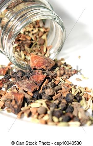 Stock Photos of oriental spice mix n a bottle csp10040530.