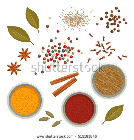 Indian Spices Stock Images, Royalty.