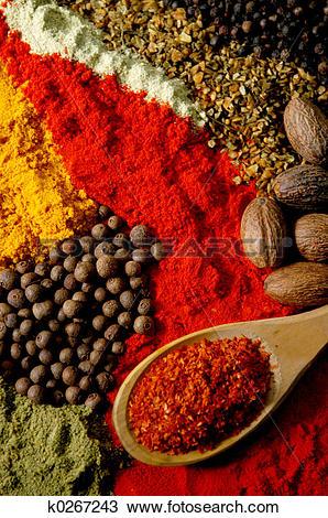 Stock Photo of Spice Still Life k0267243.