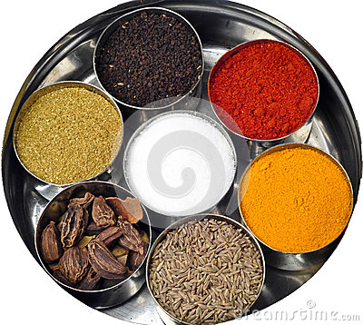 Indian Spices Turmeric Chilli Powder Stock Photography.