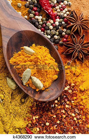 Stock Photography of Exotically Spice Mix k4368290.