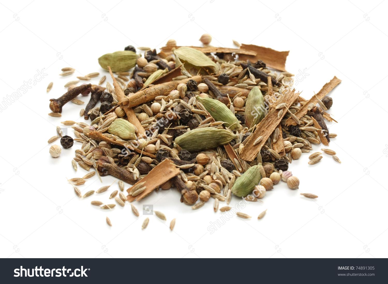 Ingredients Garam Masala Indian Spice Mix Stock Photo 74891305.