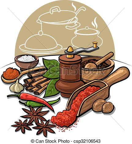 EPS Vector of spices and flavors csp32106543.