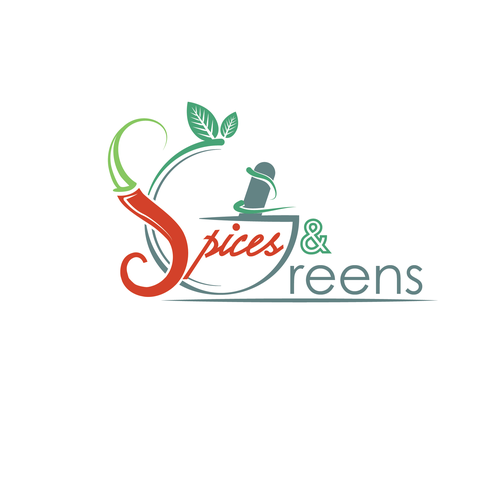 Design a new logo for Spices & Greens.