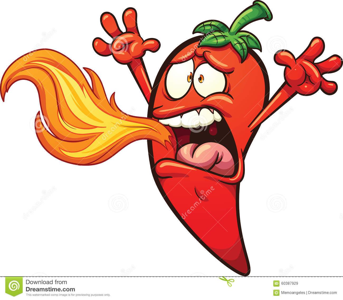 Spicy Pepper Stock Vector.