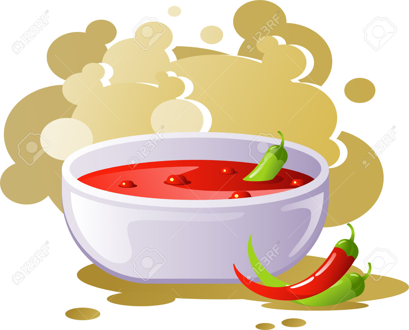 Spicy food clipart.
