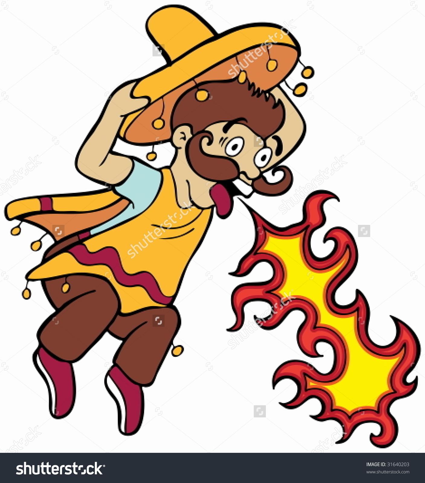 Spicy Food Mexican Cartoon Stock Vector 31640203.