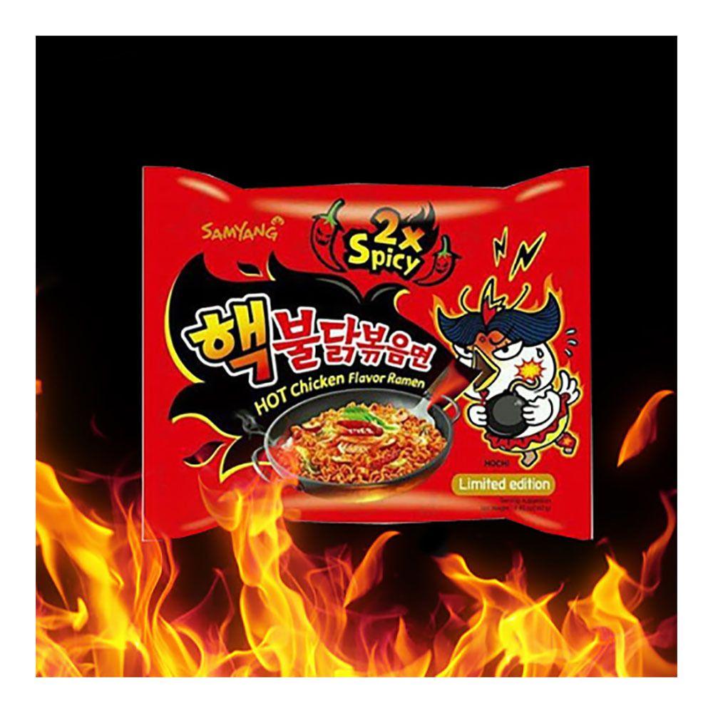 Korea 2X Spicy Hot Chicken Flavor Ramen Fire Instant Noodle.
