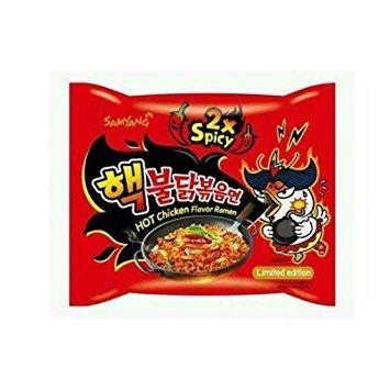 Samyang 2X Spicy Hot Chicken Flavor Ramen, 10 Pack (140 Grams Each).