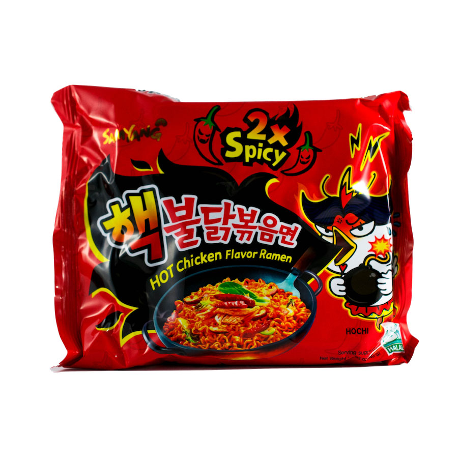 SAMYANG Hot Chicken 2x Spicy Instant FIRE NOODLES.